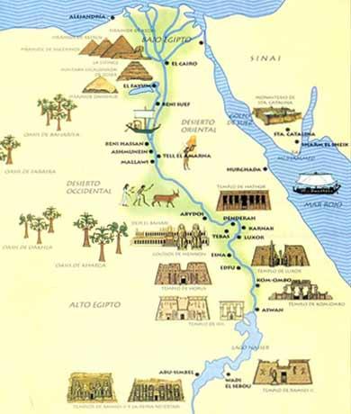 En el valle del río nilo se desarrolló la civilización egipcia esta